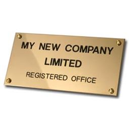 Brass Registered Office Name Plate