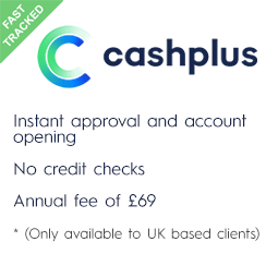 CashPlus Business Account, no credit check and instant opening